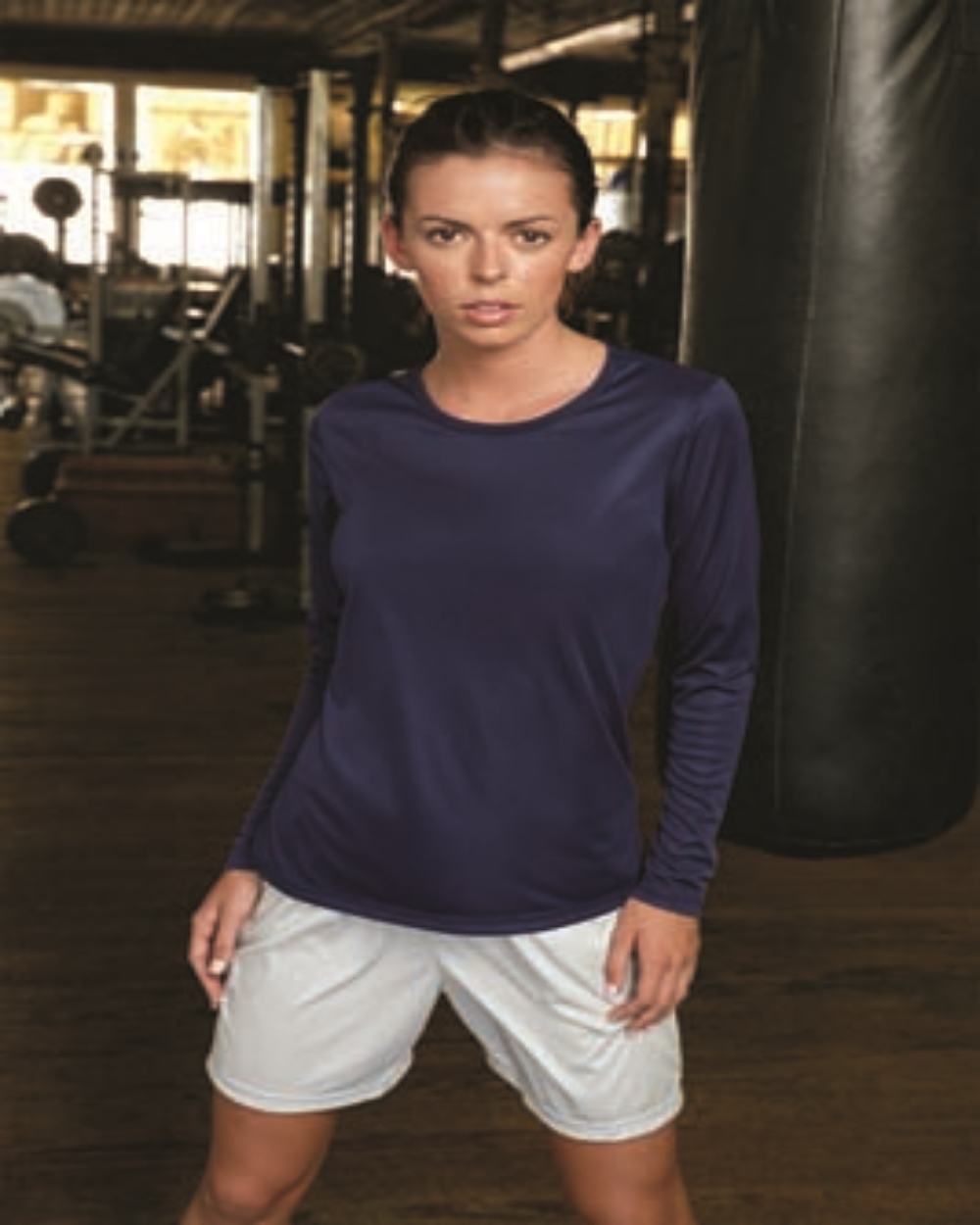 A4 NW3002     Ladies Long Sleeve Performance     4.0 oz. 100% Polyester
