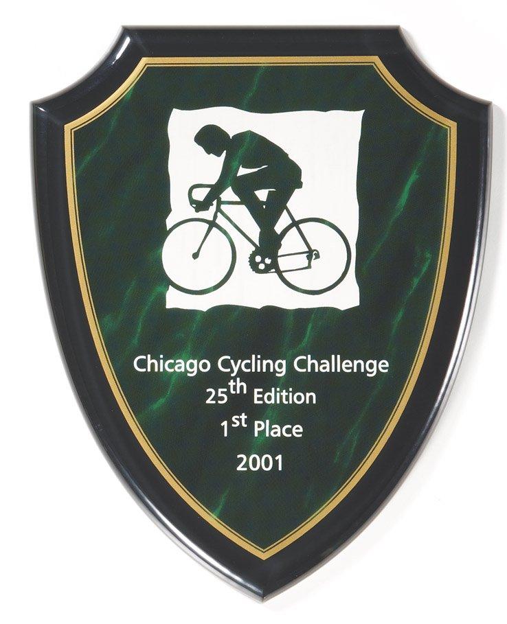 "Green Marble Shield 8"" x 10"" - CP750-G -$61"