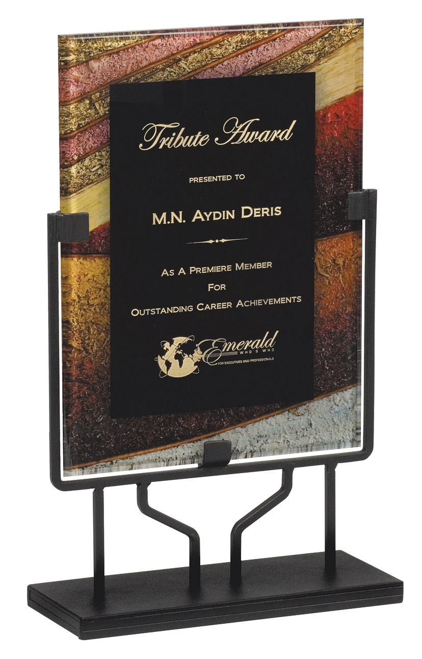 "Autumn Harvest - Standing Plaque   Acrylic is 8.75"" x 11.75"" - PLX804H-C  Overall Height - 15"" tall   Price = $114"