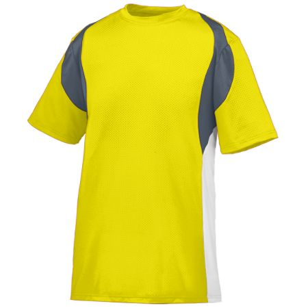 Augusta 1515/1516     Adult/Youth Quasar Baseball Jersey    92% Polyester/8% Spandex Pinhole Mesh