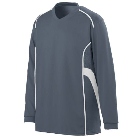 Augusta 1085/1086     Adult/Youth Long Sleeve Jersey    100% Polyester Wicking Knit