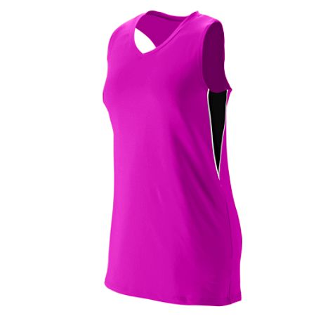 Augusta 1290/1291     Ladies/Girls Racerback Volleyball Jersey    92% Polyester/8% Spandex Wicking Pinhole Mesh