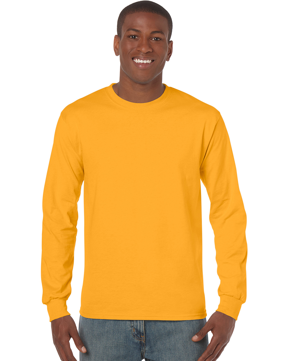 Gildan 5400     Heavy Cotton™    Classic Fit Adult Long Sleeve T-Shirt    5.3 oz. 100% Cotton