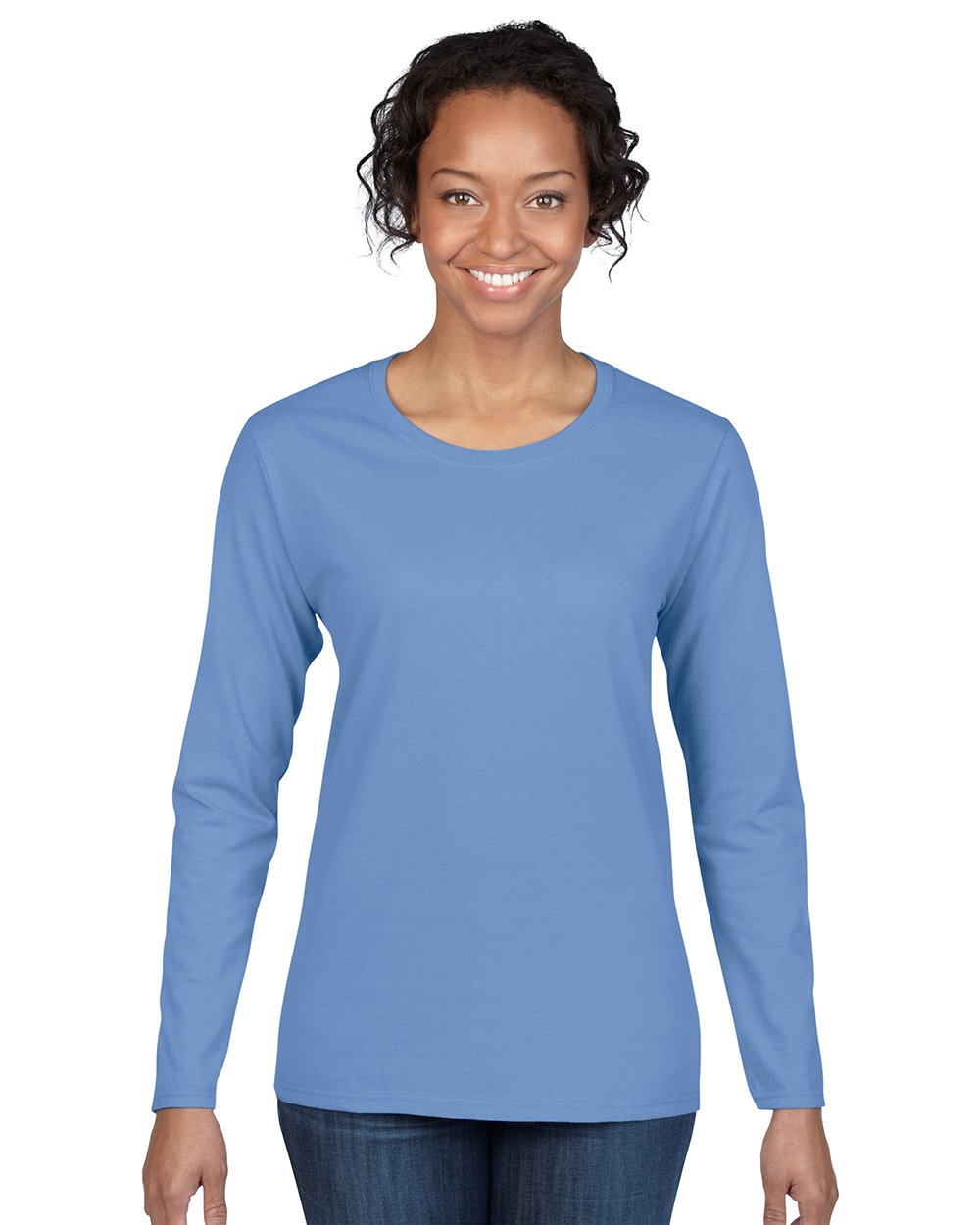 Gildan 5400L     Heavy Cotton™    Adult Missy Fit Ladies Long Sleeve T-Shirt    5.3 oz. 100% Cotton