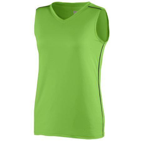 Augusta 1350/1351     Ladies/Girls Storm Jersey    92% Polyester/8% Spandex Wicking Pinhole Mesh