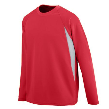 Augusta 4620 Adult Mesh Long Sleeve Jersey 100% Polyester Wicking Mesh