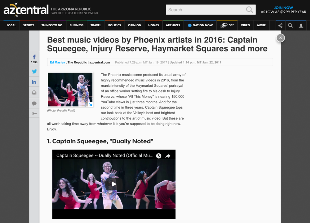AZ Central - 2016 Best Music Video