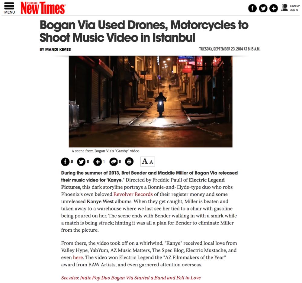 Phoenix New Times - Bogan Via - Gatsby Premiere