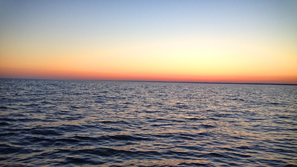 Sunset.  Long Island Sound.