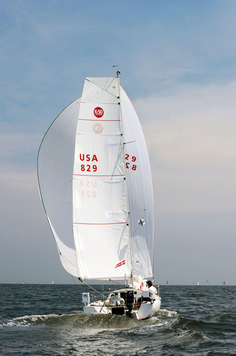 2013 Stamford YC Vineyard Race - downwind start in 10-15 knots