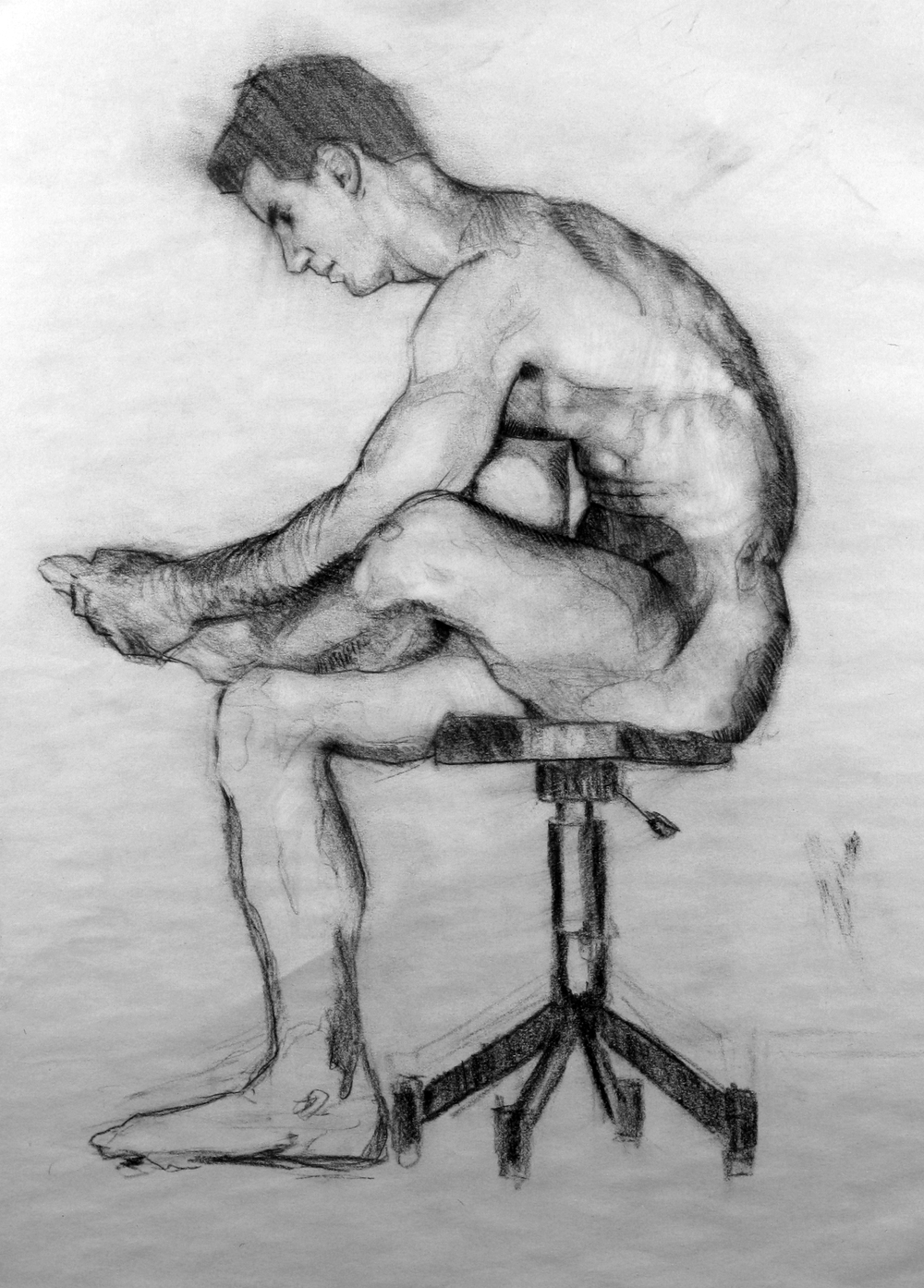 2011 Male Seated Charcoal.JPG