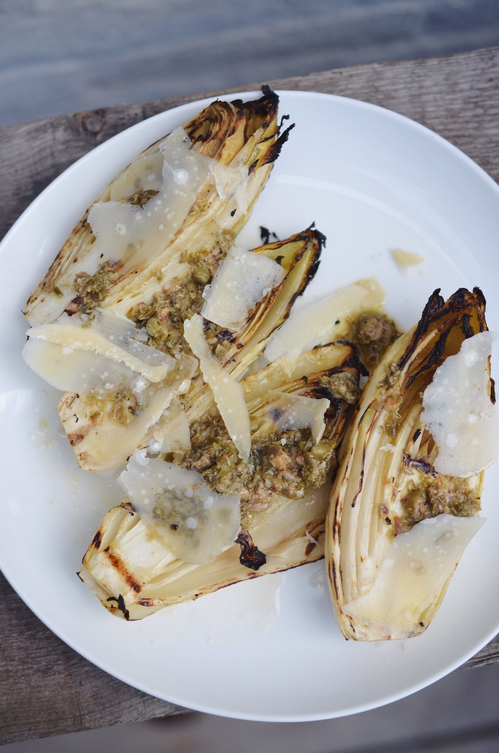 Grilled Endives with Caper-Anchovy Dressing — steph\'s apartment kitchen