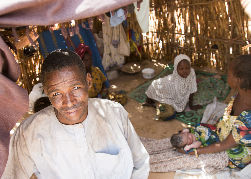 Boko Haram militants occupied Bulama Alajiri's village for three years and forbade him to farm. In April, he and his family fled to an IDP camp near Maiduguri. (Tim McDonnell)
