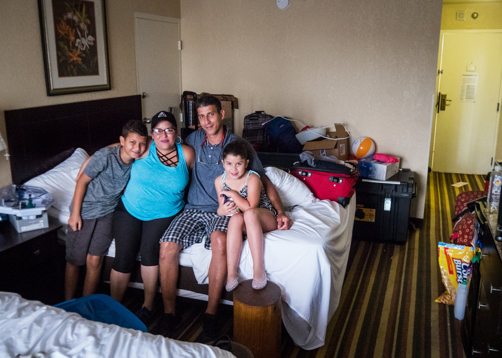 Betzaida Crespo and her family have shared this Orlando hotel room since November. (Tim McDonnell)