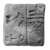 Tablet OIM A2513 boasts the first names in written record. (University of Chicago: Oriental Institute)