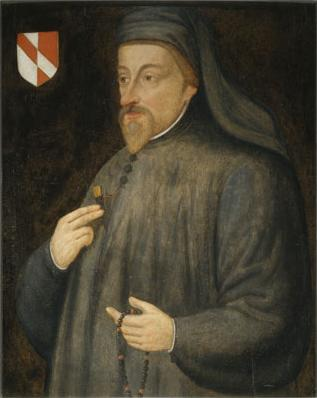 Geoffrey Chaucer by an anonymous 17th c. painter.