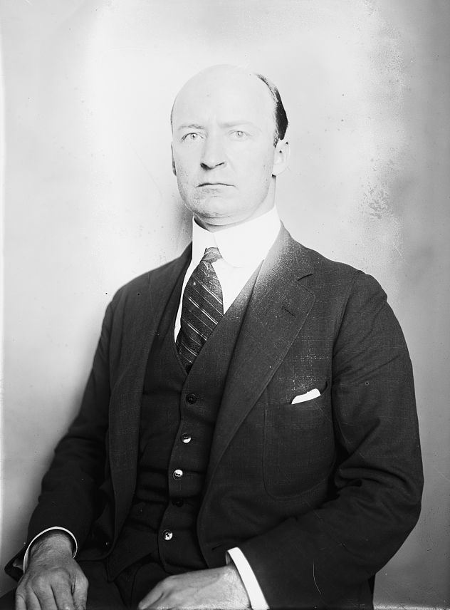Drop your swagger-sticks:Representative W. J. McCormick of Montana's 1st District is in town. Image credit: Wikipedia and Library of Congress