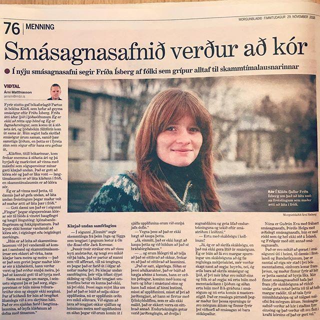 Fríða Ísberg ræðir smásagnasafnið Kláða í viðtali í Morgunblaðinu 📚