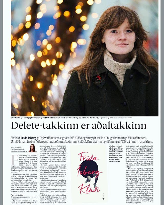 """Stórgott viðtal við Fríðu Ísberg í Fréttablaði dagsins – """"Ef það væri til stigsmunur á fíkn þá væri kláði grunnstigið,"""" segir Fríða."""
