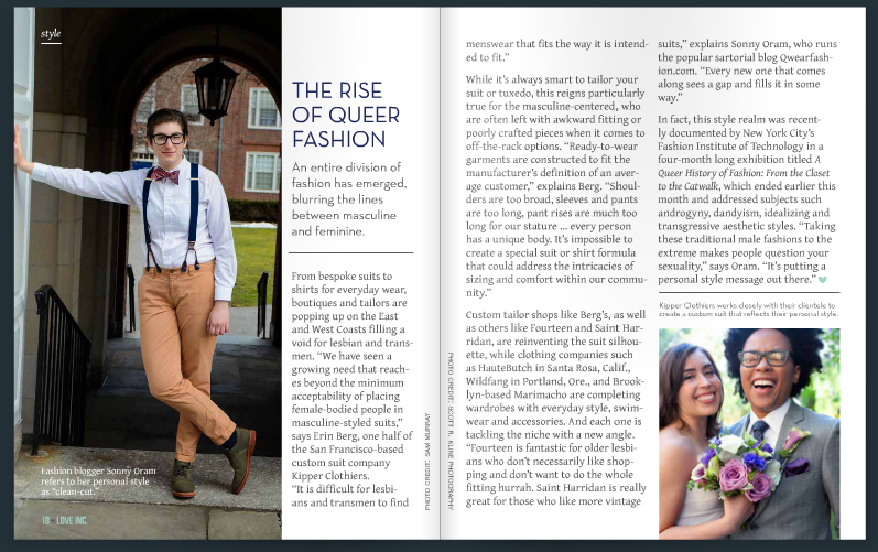 Sonny Oram in Love Inc. Magazine