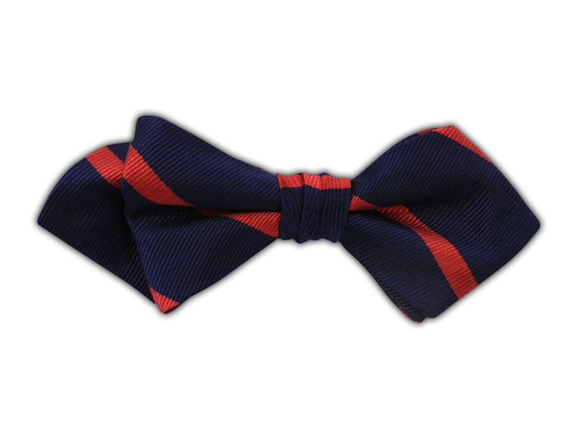 Trad Stripe - Navy/Red (Diamond Tip Bow Tie), $15 at   The Tie Bar