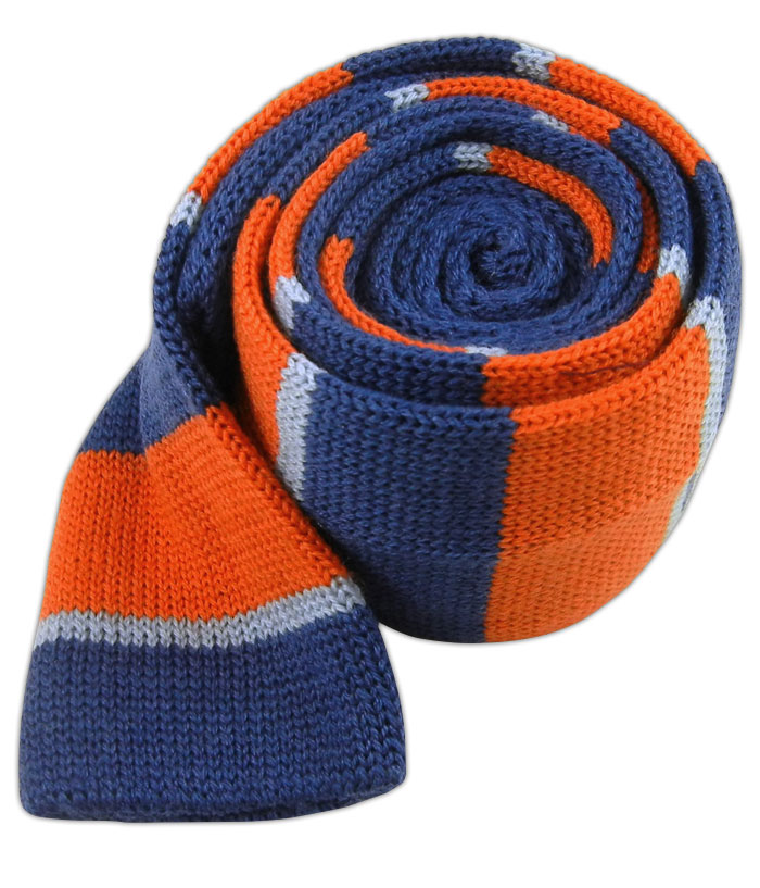 Knit Stacked Stripe - Blues/Orange (Wool), $15 at   The Tie Bar