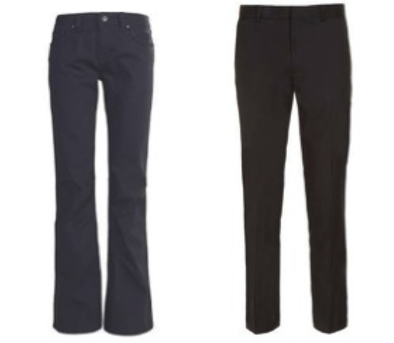 (Left) Women's Marmot Rock Spring Pigment Cord Pants (Right) Topman Charcoal Skinny Suit Pants*