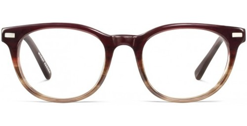 Sinclair Burgundy Fade, at   Warby Parker   for $95