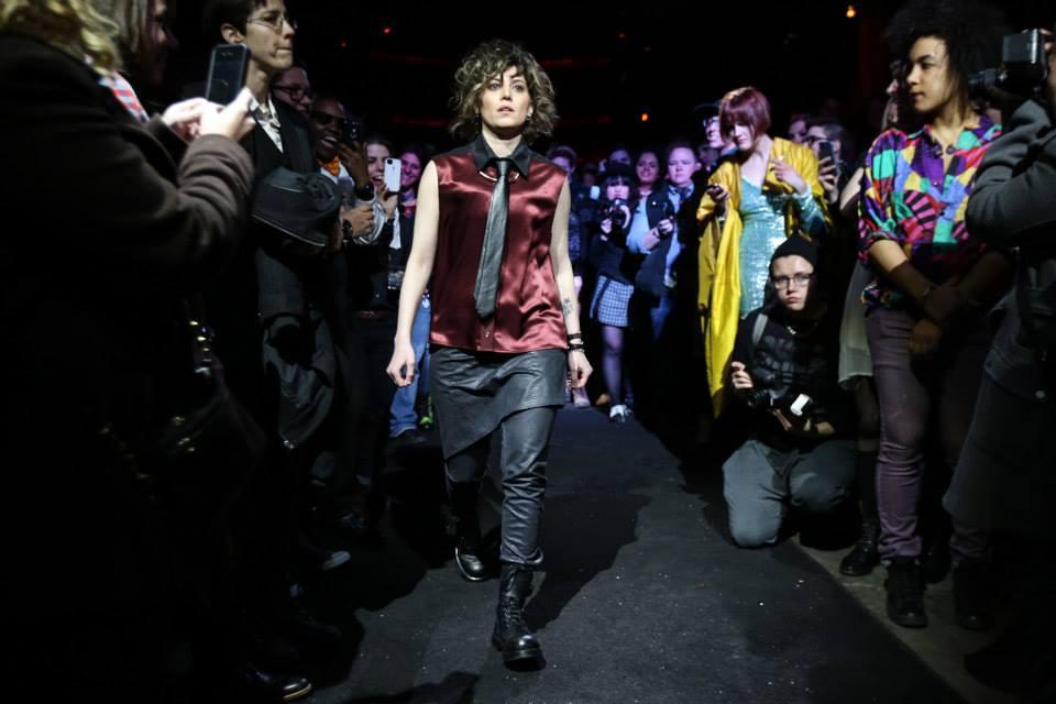 Model Lani Buess wearing Designer Angie Chuang