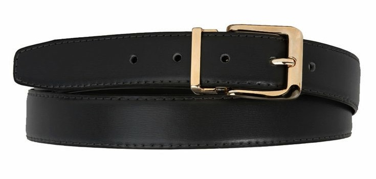 ,Black/Brown Reversible Non Leather Dress Belt with Gold Buckle $21.95 at  Alternative Outfitters