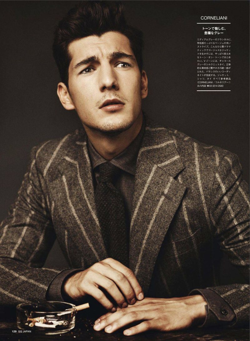 GQ Japan's focus on grey: Monochrome focusing on varied textures like Bing and Sean discussed in their recent conversation.