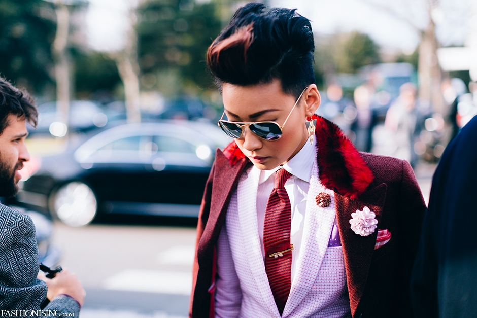 Esther Quek at Dior Homme: Esther Quek fanboi over here. Look at all those amazing accessories! You don't have to choose.