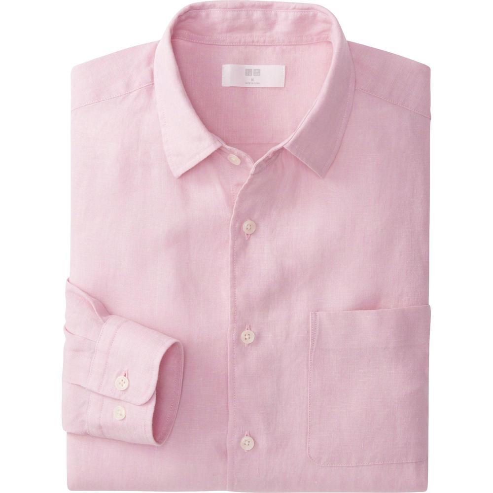 Men Premim Linen Long Sleeve shirt, $19.99 at Uniqlo