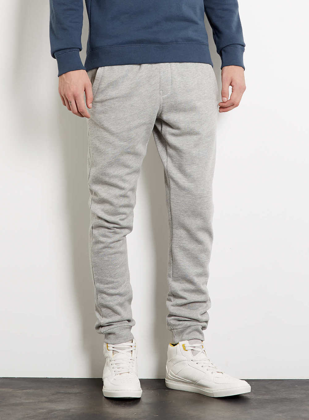 Grey Marl Skinny Sweatpants, $40