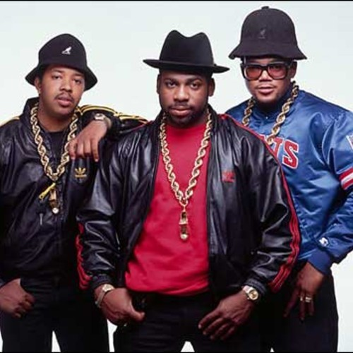 Bomber jackets, Kangol hats, and large gold chains were some of the many elements that went into '80s hip hop fashion.  Run-D.M.C, 80's   pioneering hip hop group .