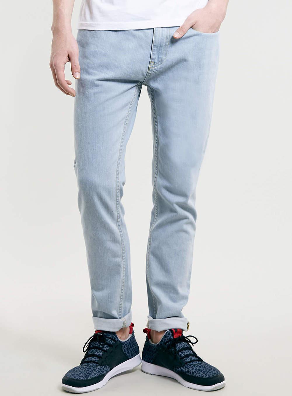 Bleach Wash Stretch Skinny Jeans, now $35