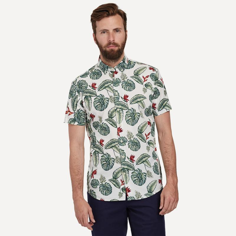 Floral Print Shirt in Palm, $55 at  Frank and Oak