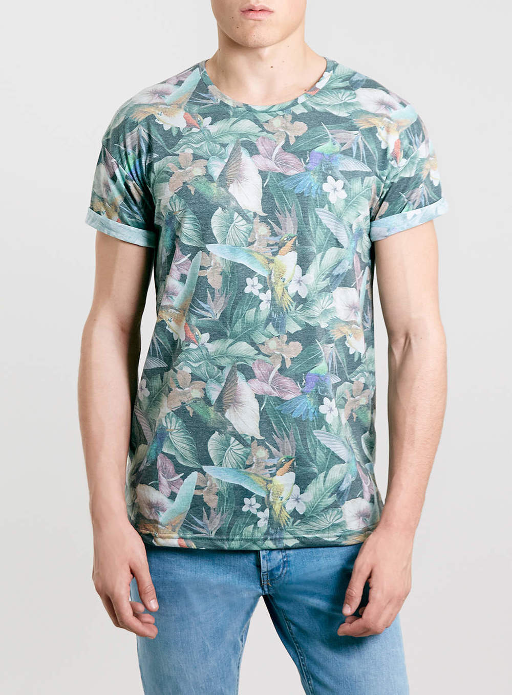 Tropical Birds Roller T-shirt, $40 at Topman *