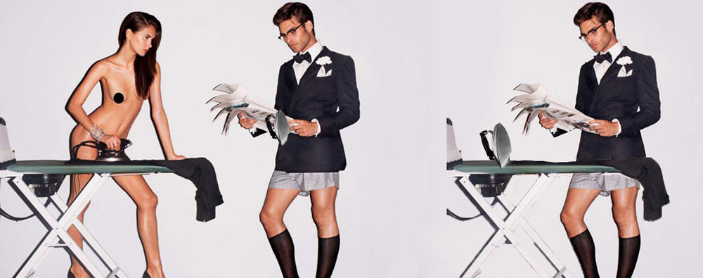 Studies show that only 2% of people can multitask effectively. Oh look, a man who can read the paper AND iron his own clothes!!! Totes want that suit. From: Tom Ford, Spring 2008