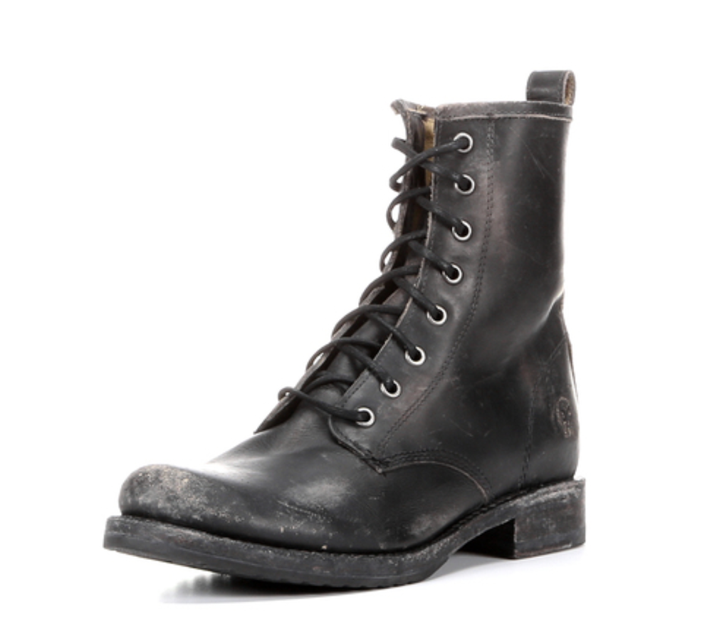 Frye Women's Stone Wash Veronica Combat Boot,$258