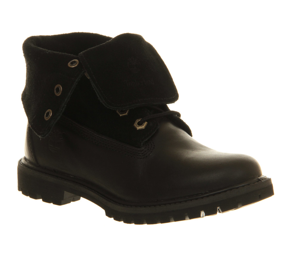 Women's Timberland Authentics Suede Roll-Top Boots