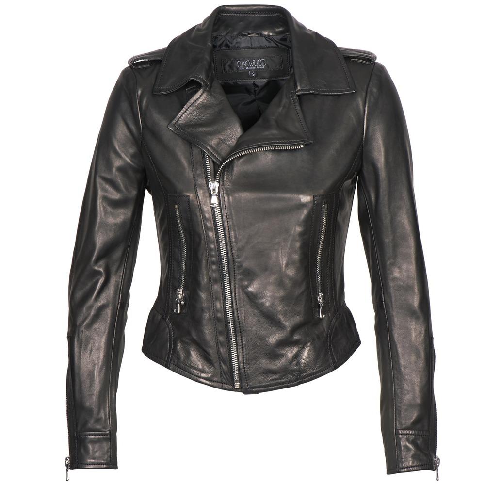 Oakwood 60945 women's Leather jacket in Black