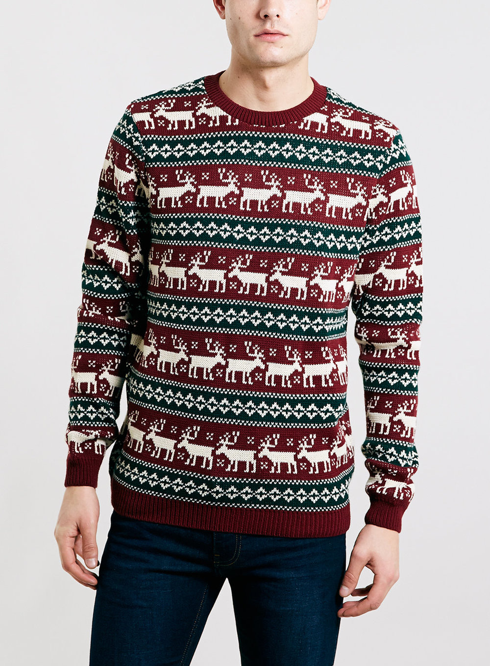 Boxed Reindeer Crossing Christmas Sweater , was $55, now $44