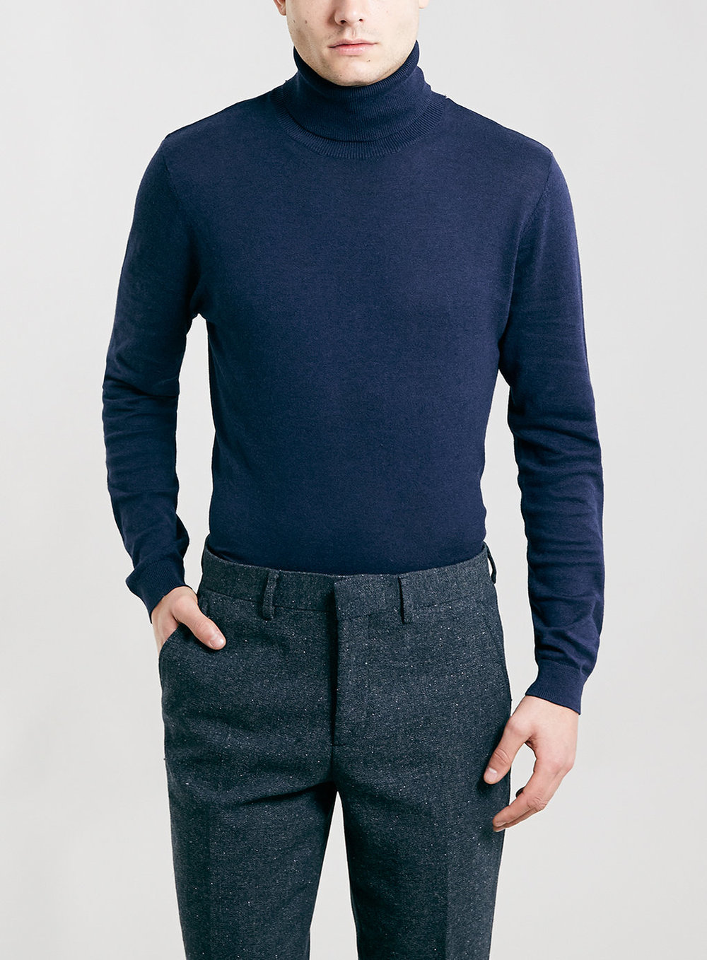 Deep Violet Roll Neck Sweater, was $40, now $32