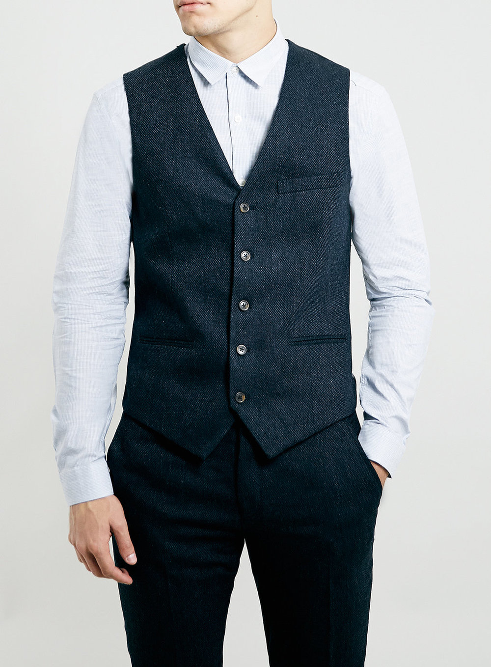 Navy Tweed Suit Vest, was $75, now $60