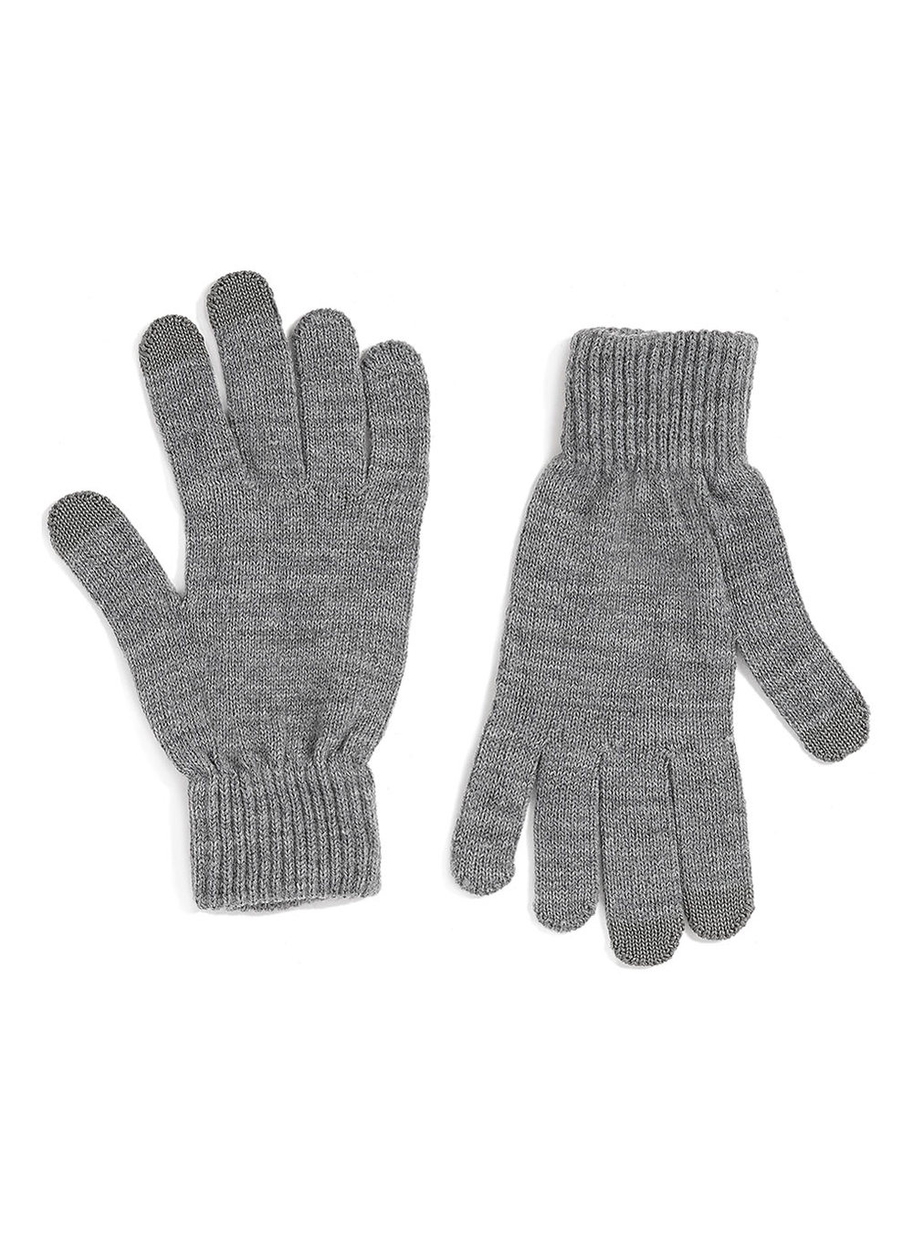 Mens leather gloves topman - Grey Touchscreen Gloves Was 12 Now 9 60