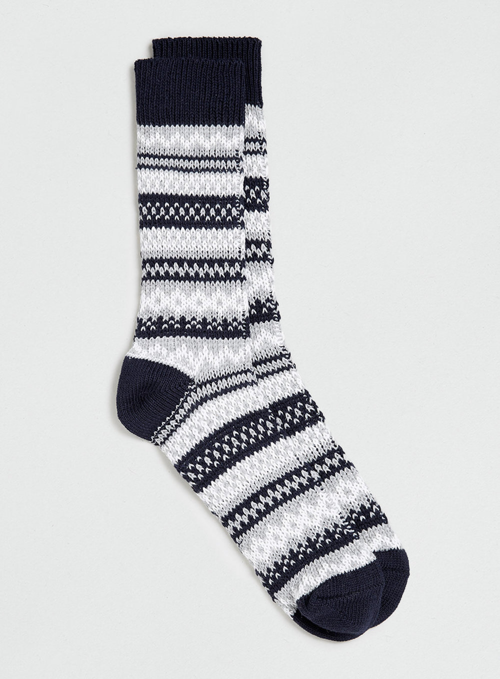 Navy Winter Fairisle  Boot Socks , was $12, now $9.60