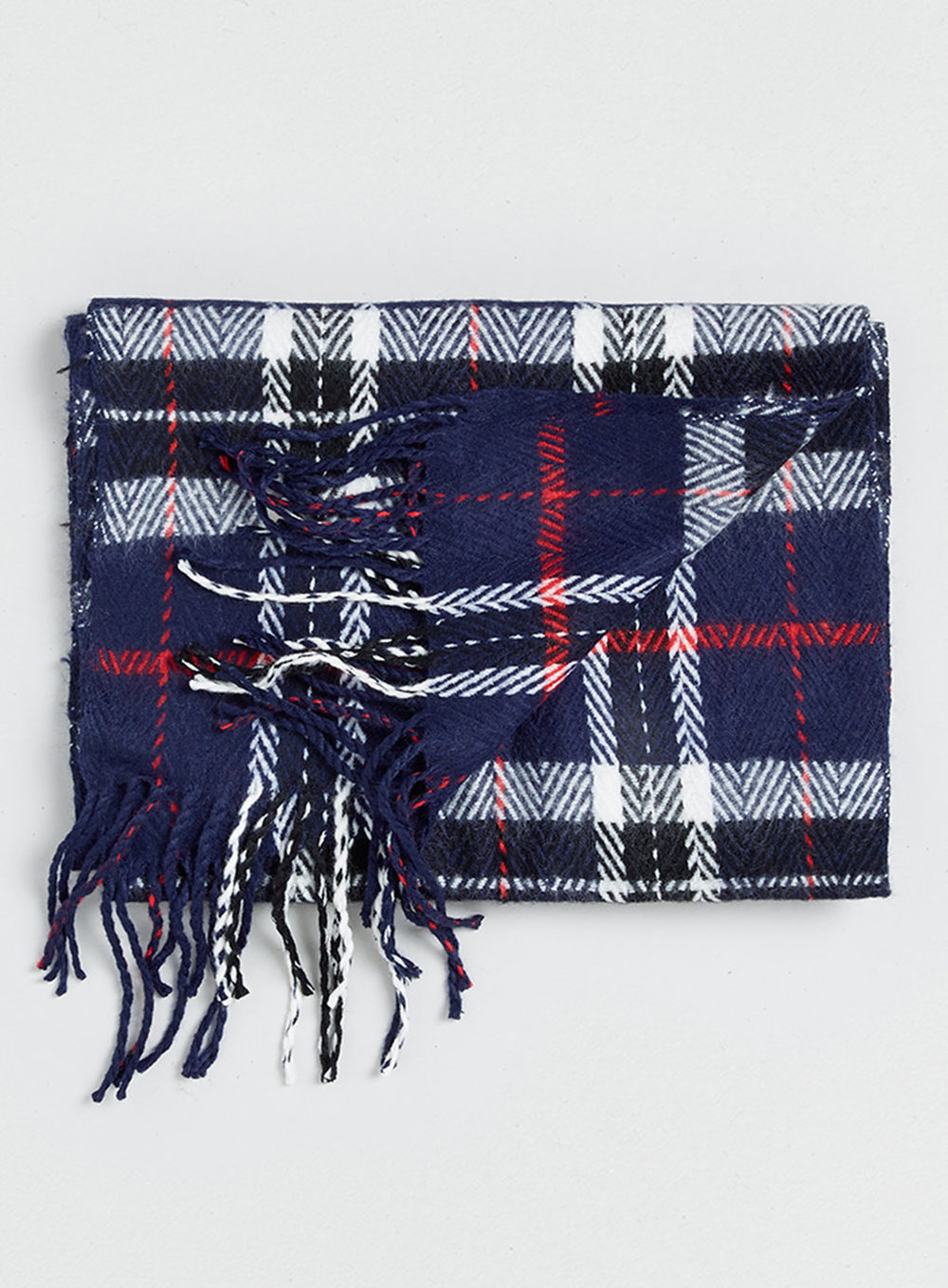 Navy Herringbone Check Scarf, was $25, now $20