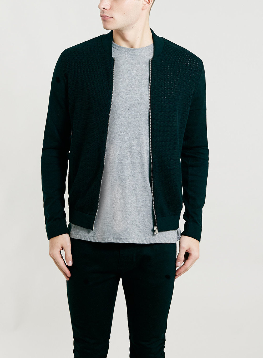 Black Rib Bomber Jacket , was $70, now $56