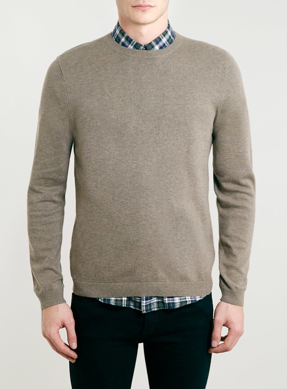 Sand Marl Classic Crew Neck Sweater, was $30, now $24